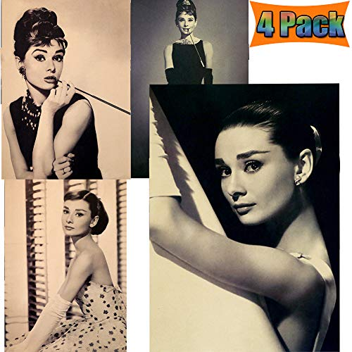 Audrey Hepburn Poster Motivation Quote Wall Art Poster Hollywood Actress Vintage Dictionary Art Wall Decor Prints Poster Movie Poster Home Family (Audrey Hepburn)