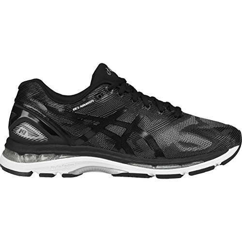 ASICS Men's Gel-Nimbus 19 Running Shoe, Black/Onyx/Silver, 8 M US by ASICS
