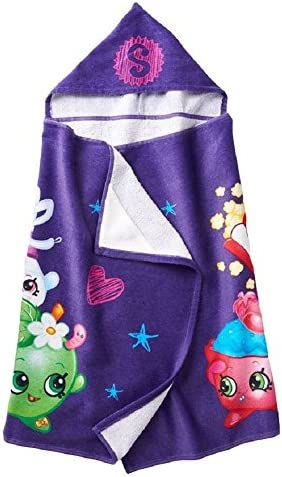 Shopkins Girls Hooded Bath Towel 25x 50
