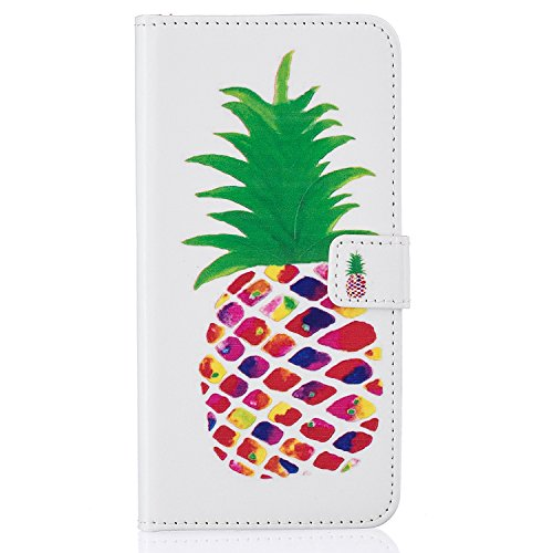 iPhone 7 Plus iPhone 8 Plus Hülle , COZY HUT Ultra Slim Schutzhülle für iPhone 7 Plus iPhone 8 Plus Multi-function Wallet Case Hülle 2 in 1 Detachable Kette Cover Case Leather hülle Tasche Schutzhülle Ananas