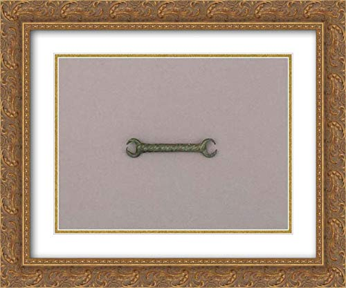 European Culture - 24x20 Gold Ornate Frame and Double Matted Museum Art Print - Mouthpiece of a Snaffle Bit