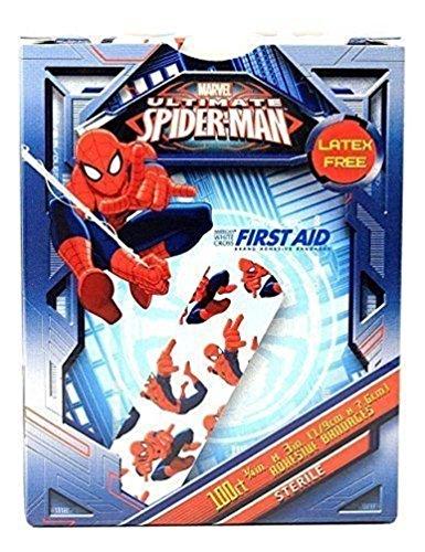 Childrens Adhesive Bandages - Spiderman - Box of 100
