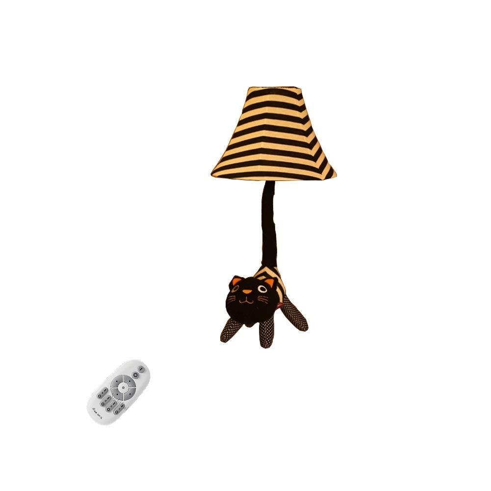 Desk Lamp Cartoon Stehlampe Leicht zu Reinigen Fernbedienung Dimmen Wohnzimmer Schlafzimmer Nordic Kinderzimmer Kreative Stehlampe (Freie Birne) E27-625 (Farbe   Desk lamp)