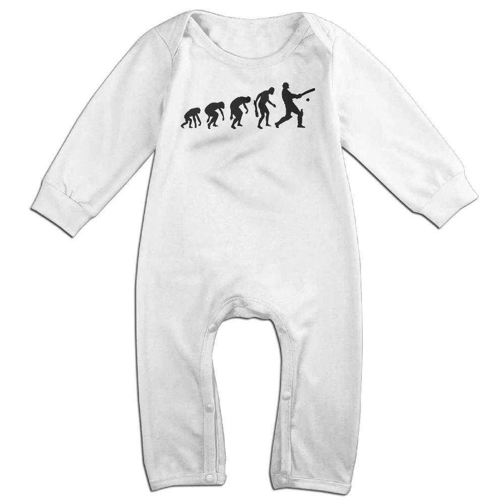 UGFGF-S3 Cricket Evolution Long Sleeve Infant Baby Bodysuit for 6-24 Months Bodysuit