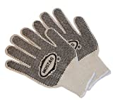 G & F 14431L-DZ Natural Cotton Work Gloves with double-side PVC Dots, Large, 12 Pairs