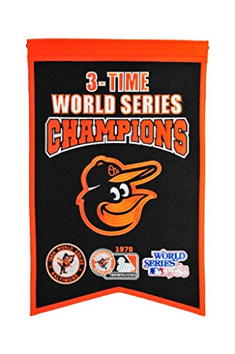 Winning Streak MLB Baltimore Orioles 3 Time WS Champions Banner, One ()