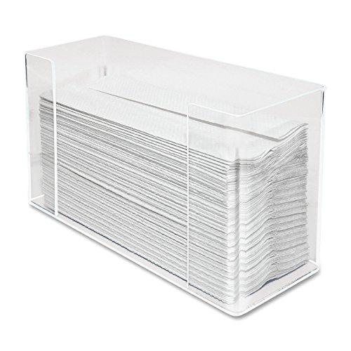 Kantek Paper Towel Dispenser, Clear Acrylic, 11.5 x 6.75 x 4.2 Inches (AH190) (Renewed)