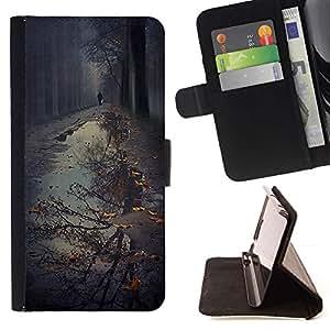 Momo Phone Case / Flip Funda de Cuero Case Cover - Reflexión Charco Otoño Otoño Naturaleza - Apple Iphone 5C
