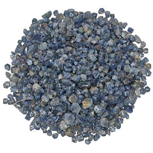 Digging Dolls: 25 pcs of Beautiful Blue Sapphire Crystals Rough Stones from Brazil - Raw Rocks Perfect for Tumbling, Lapidary Polishing, Reiki, Crystal Healing and - Rough Sapphire
