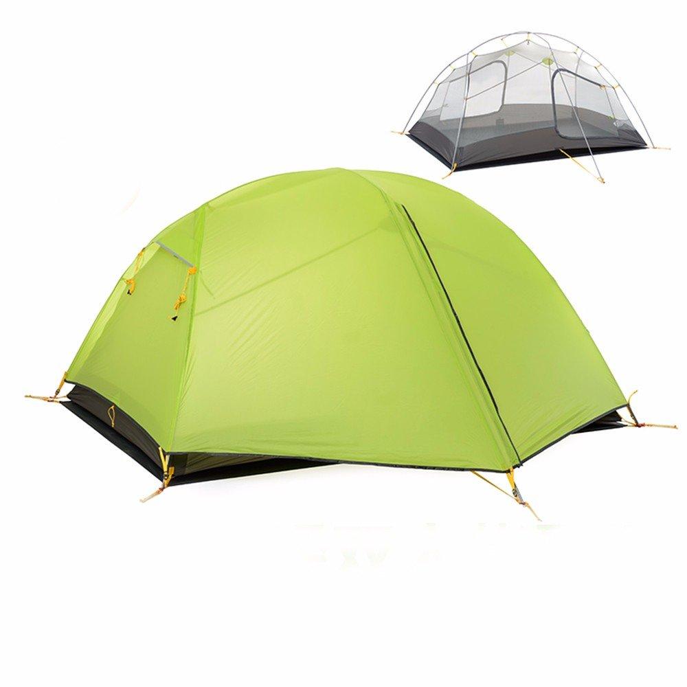 SJQKA-Die Kieselsäure Gel-Rainstorm Zelte Outdoor 2 Personen, Paare doppelte Campingplatz Camping,