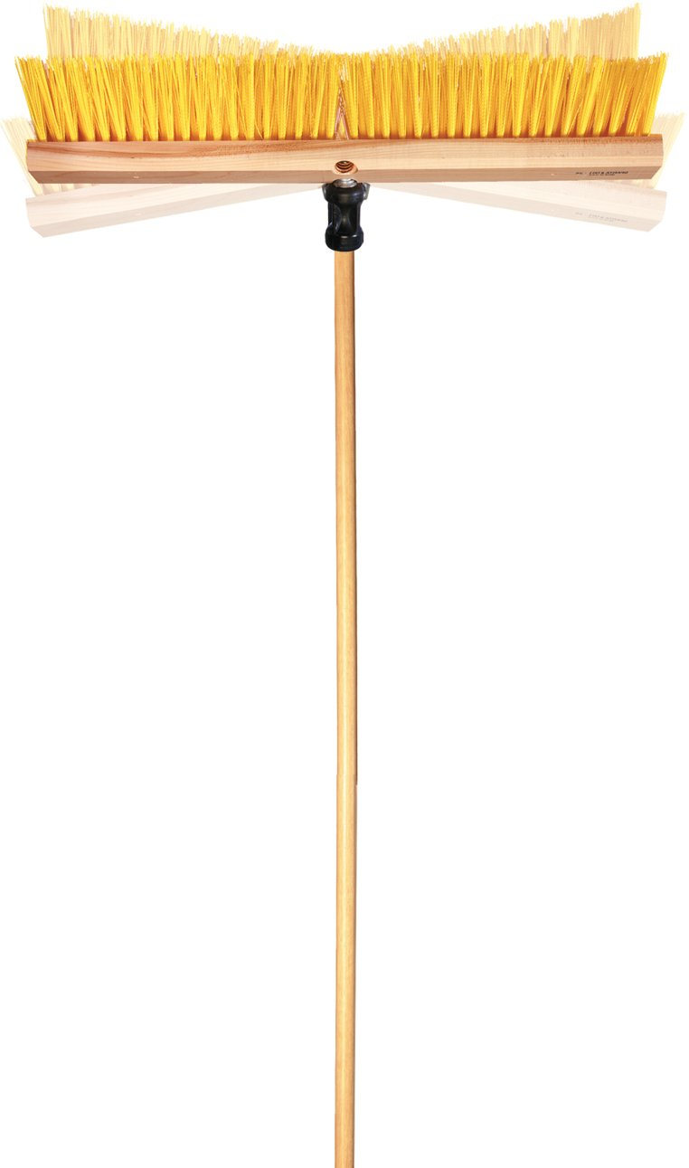 Carlisle 4028100-E 54'' Wood Handle with 4'' Flex-All Adapter, 0.94'' Height, 0.94'' Width, 58'' Length, Wood/Other