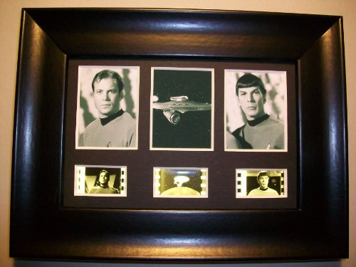 STAR TREK TOS Framed Trio 3 Film Cell Display Collectible Movie Memorabilia Complements Poster Book Theater