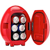 electric 6 can cooler - Smad Personal 6-Can Car Cooler/Warmer Travel Mini Fridge 0.14 Cu.ft, 12V/110V, Red