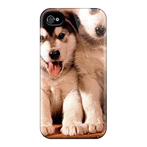 High Impact Dirt/shock Proof Case Cover For Iphone 4/4s (snow Puppies)