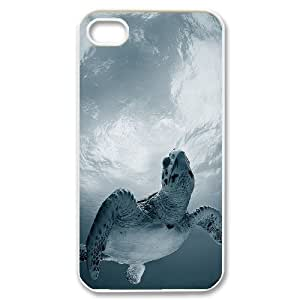 Sea Turtle Customized Cover Case for Iphone 4,4S,custom phone case ygtg565063
