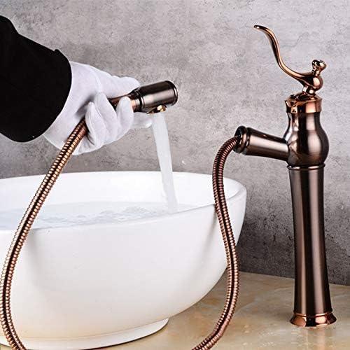 DXX-HR 流域の蛇口浴室タップ黒い古代ORBブラッシュ銅テーブルの下にザ・流域の蛇口ダイヤモンドレトロ蛇口浴室用タップ