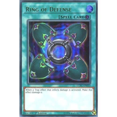 YuGiOh : LCKC-EN033 1st Ed Ring of Defense Ultra Rare Card - ( Legendary...