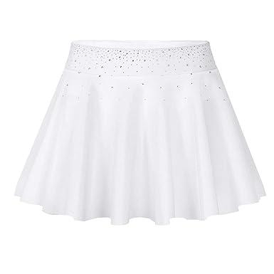YOOJIA Mujer Falda Corta Plisada con Diamantes de Imitación Falda ...
