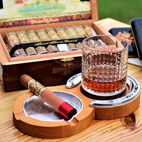 Cherry Kentucky Double Cigar Ashtray Coaster - Double Cigar