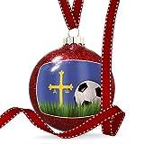 Christmas Decoration Soccer Team Flag Asturias region Spain Ornament