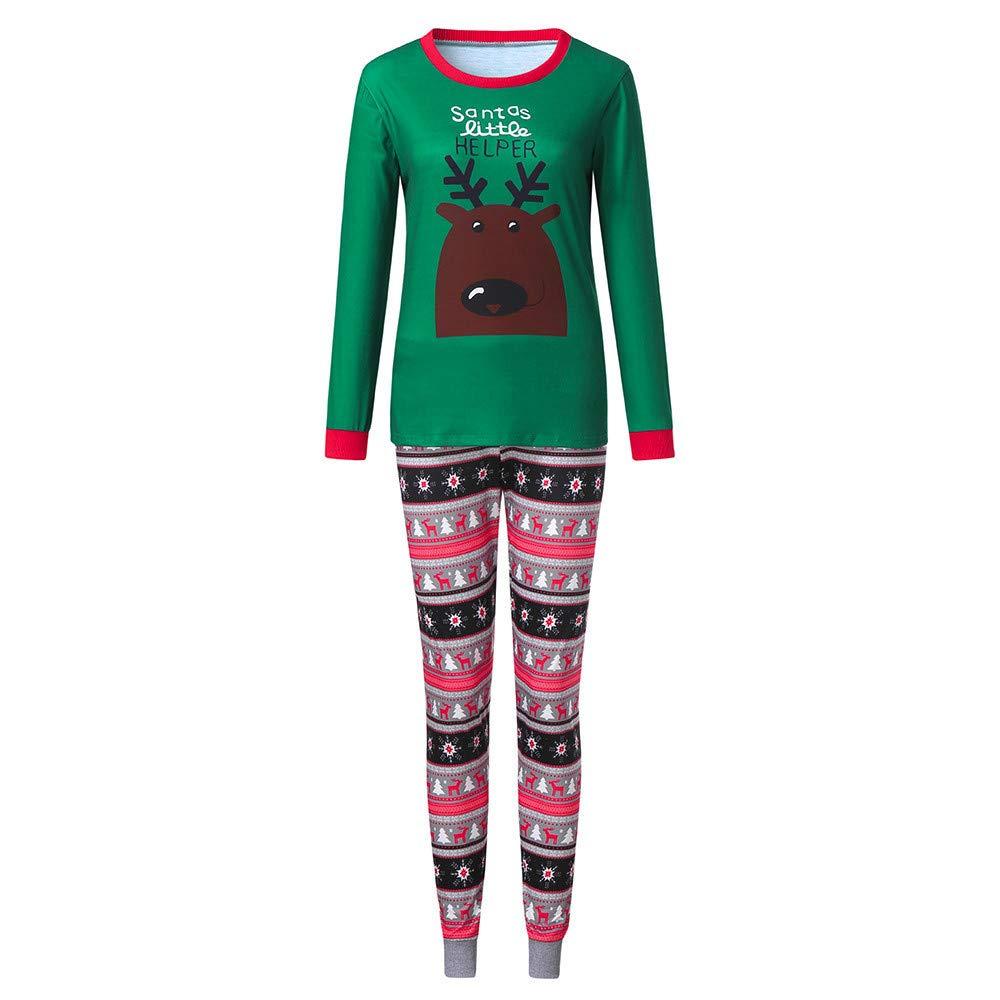 BaZhaHei Famiglia Pigiami Natale Pigiama Bambina Natale Maniche Lunghe Pigiama Donna Ragazze Due Pezzi Pigiama Uomo Costume Natale Camicie da Notte Invernali Pigiama Natale Famiglia