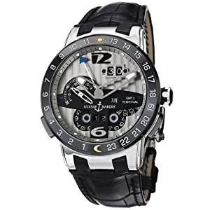 Ulysse Nardin El Toro Perpetual Calendar Automatic Leather Strap Watch 329-00