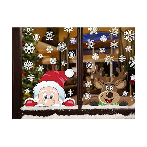 Adesivi Decorativi Natalizi,Yuson Girl Romantic Atmosphere Natale Fiocchi Di Neve Finestra Decori Adesivi per Natale Partito Casa Bambini Decor 1 spesavip