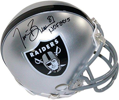 Oakland Raiders Nfl Hand Signed - NFL Oakland Raiders Tim Brown Signed Mini Helmet