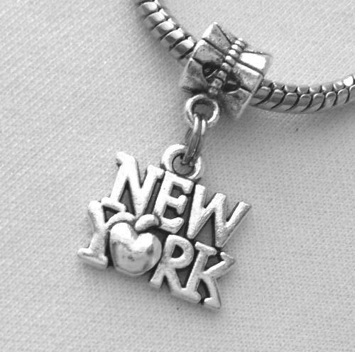 New York City Big Apple European Dangle Bead Charm for Bracelet or Pendant