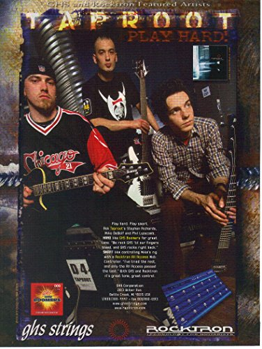Magazine Print ad: 2004 Stephen Richards-Mike DeWolf-Phil Lipscomb-Taproot, GHS Strings-Rocktron,