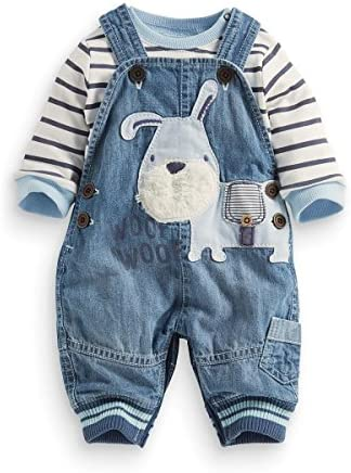 LvYinLi Cute Baby Boys Clothes Toddler Boys' Romper Jumpsuit Overalls Stripe Rompers Sets