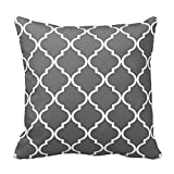 Generic Custom Square Quatrefoil Diy Choose Your Own Color | Grey Pillow Cover Cotton Pillowcase Cushion Cover 16 X 16