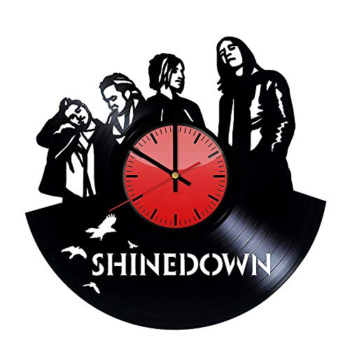 Shinedown Rock Music Band Art Design Vinil Wall Clock/Original Gift Idea for Him or Her, Boys or Girls/Cool Home Decor Wall Art/Bedroom Nursery Living Room Decor