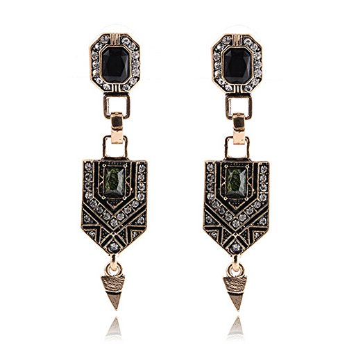 (Elakaka Women's Resin Gemstone Retro Earrings)