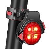 Hydnora Bike Tail Light, Wireless USB Rechargeable Waterproof Bicycle Taillights Smart Brake Warning Removable LED Safety Bike Rear Light 5 Lighting Modes Bike Light Bicycling