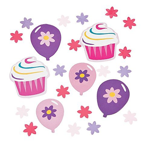 1//2-1 1//2 x 1//2-1 3//4 Birthday Cupcake Confetti 2oz. Bag