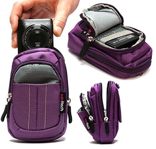 Navitech Purple Digital Camera Case Bag Cover Compatible with The Panasonic LX7 Premium Panasonic Lumix TZ101 (Lx7 Camera Lumix)