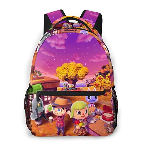 BOKAIKAI1306 Lovely Animal Crossing Unisex Adults Backbag Woman Mens Schoolbag Portable Gift Daypack Bookbag for Youth School