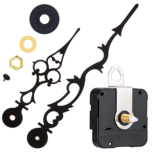 Mudder Quartz Clock Movement Mechanism with 170 mm/ 6.7 Inches Clock Hands for DIY Wall Clock (9/10 Inch/ 23 mm Shaft Length)