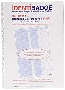 Ident Visitors Book - Recambio para libro de registro para