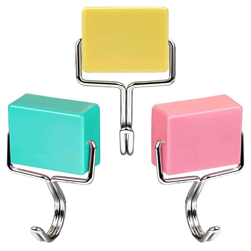 Purture All-purpose Magnetic Hooks, Creative Magnetic Hooks, Super Strong Magnetic Hooks, Colorful Magnetic Hooks, Powerful Magnetic Hooks, Set of 3