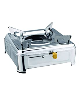 cozyle hogar portátil estufa Alcohol estufa de acero inoxidable plata: Amazon.es: Hogar