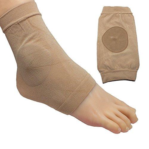 ZenToes Ankle Bone Protection Socks Malleolar Sleeves with Gel Pads for Boots, Skates, Splints, Braces - 1 (Malleolar Sleeve)