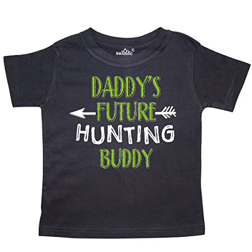 inktastic Daddys Future Hunting Buddy Toddler T-Shirt 4T Black