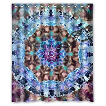 Amazing Amazon.com: Hippie Shower Curtain   New Style Tie Dye Mandala Bathroom  Shower Curtains Polyester Waterproof 60 Wide X 72 High: Clothing