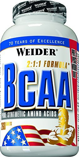 - Weider All Free Form BCAA - Pack of 260 Tablets by Weider