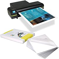 USI BigMouth 2 in 1 Thermal (Hot) Pouch Board Laminator Kit, 12 Inch, Pouches up to 7 Mil Thick and Pouch Board up to 3/16 Inches Thick, Kit Includes 5 Mil Letter Pouches and Gloss Letter Pouch Boards
