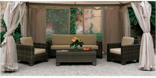 Juego de 4 telas Mosquitera para cenador Sahara 4 x 4 m: Amazon.es: Bricolaje y herramientas
