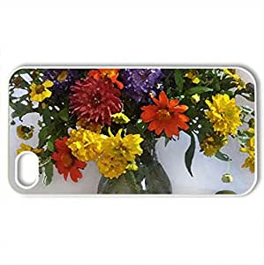 Still life - Case Cover for iPhone 4 and 4s (Flowers Series, Watercolor style, White)