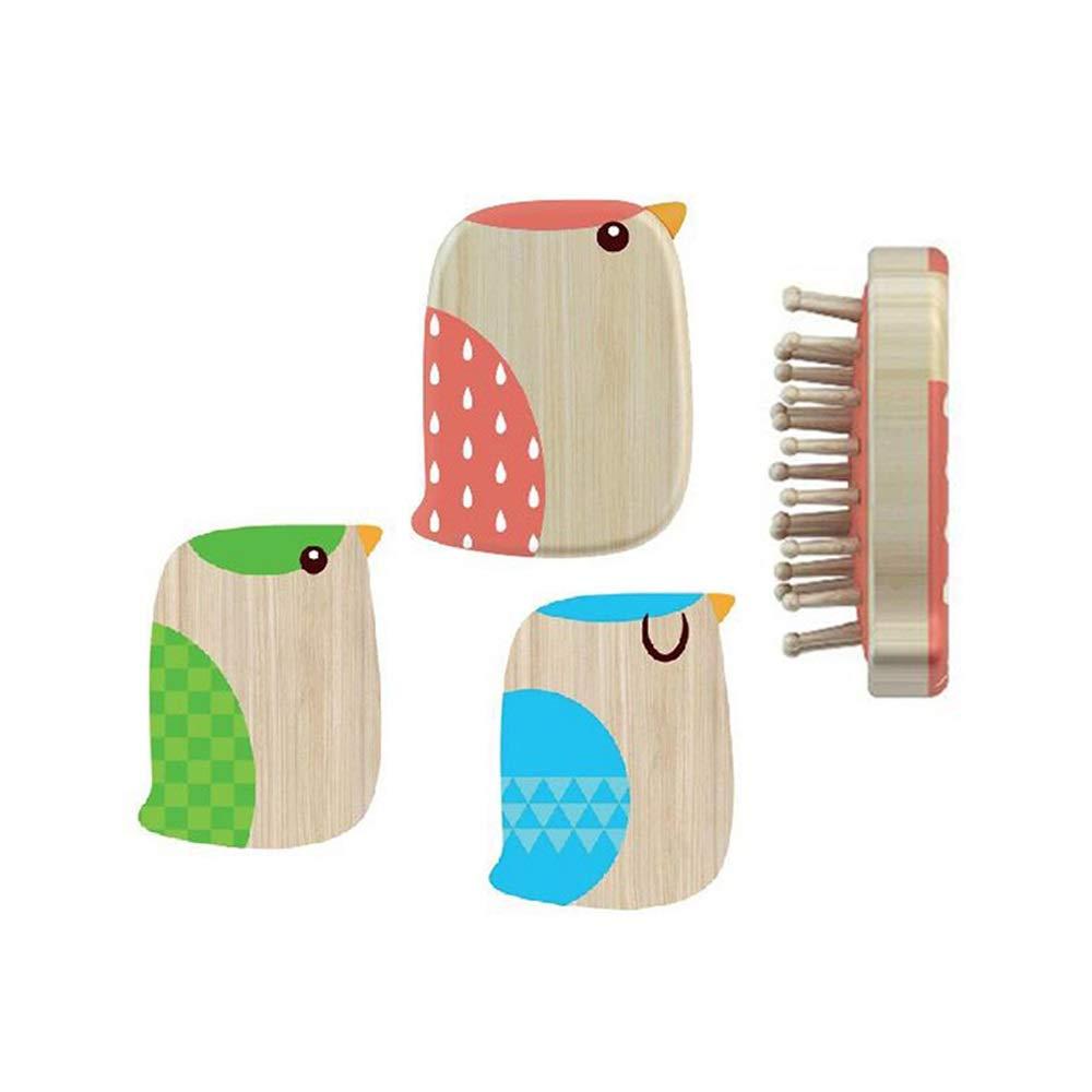 WUZHONGDIAN Comb, Bird Massage Airbag Comb Cute Girl Shun Hair Massage Comb. (Color : Green) by WUZHONGDIAN